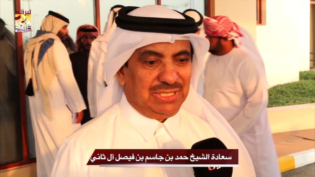 لقاء مع سعادة الشيخ حمد بن جاسم بن فيصل آل ثاني رئيس اللجنة المنظمة لسباقات الهجن  مهرجان المؤسس مساء ٢٩-١٢-٢٠١٧