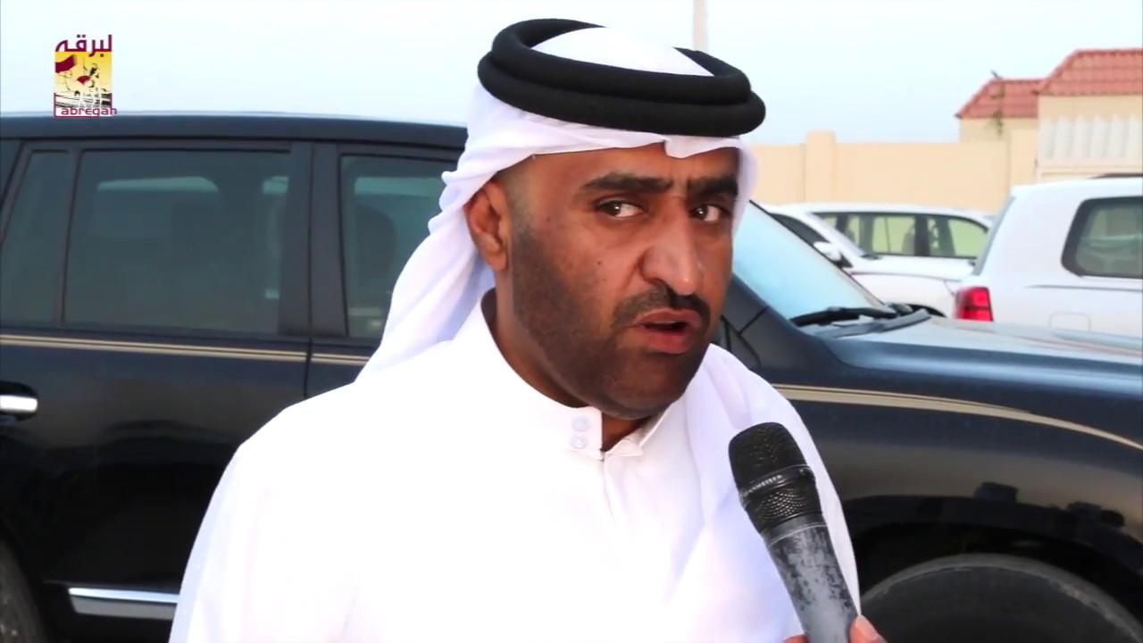 لقاء مع محمد خالد العطية مضمر هجن الشحانية الحائزة على شلفة اللقايا بكار وخنجر القعدان إنتاج  ١٦-٤-٢٠١٨