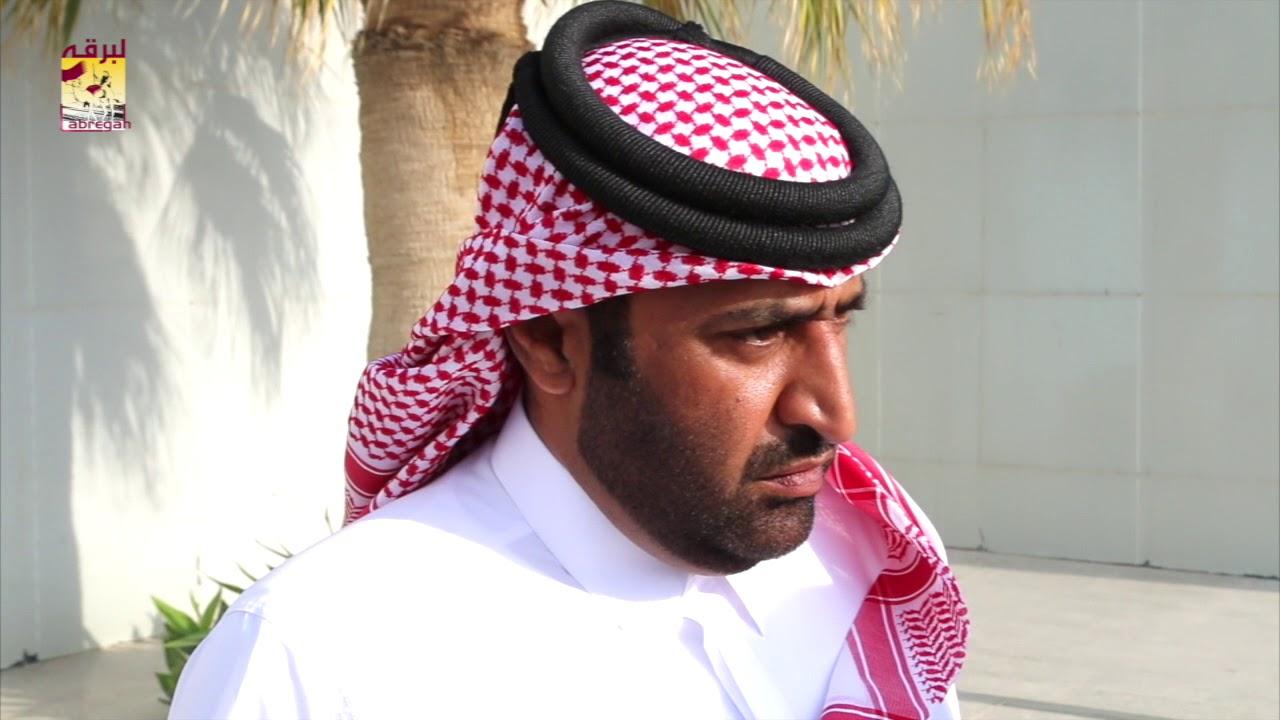 لقاء مع محمد بن خالد العطية مضمر هجن الشحانية الفائزة برموز الثنايا مهرجان المؤسس مساء ٢٧-١٢-٢٠١٧