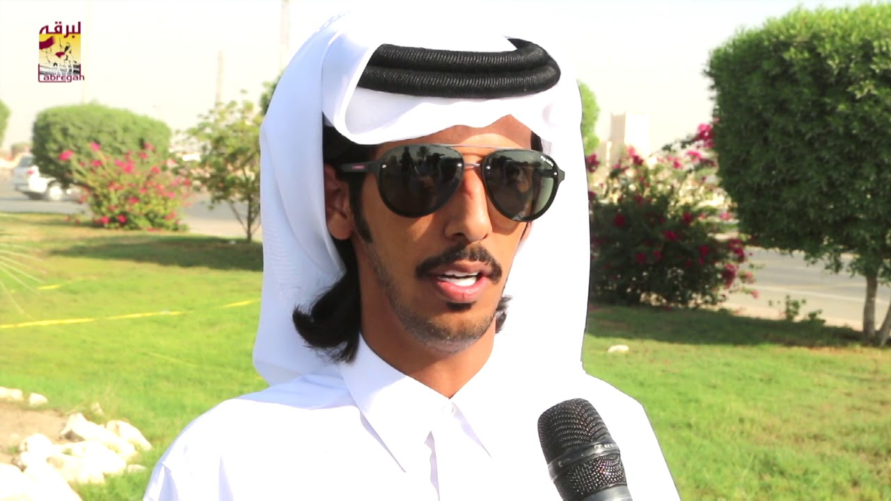 لقاء مع سالم بن حمد بن جهويل مضمر الرفاع بالشوط الرئيسي للجذاع قعدان المفتوح المحلي الثاني ٢٦-٩-٢٠١٨